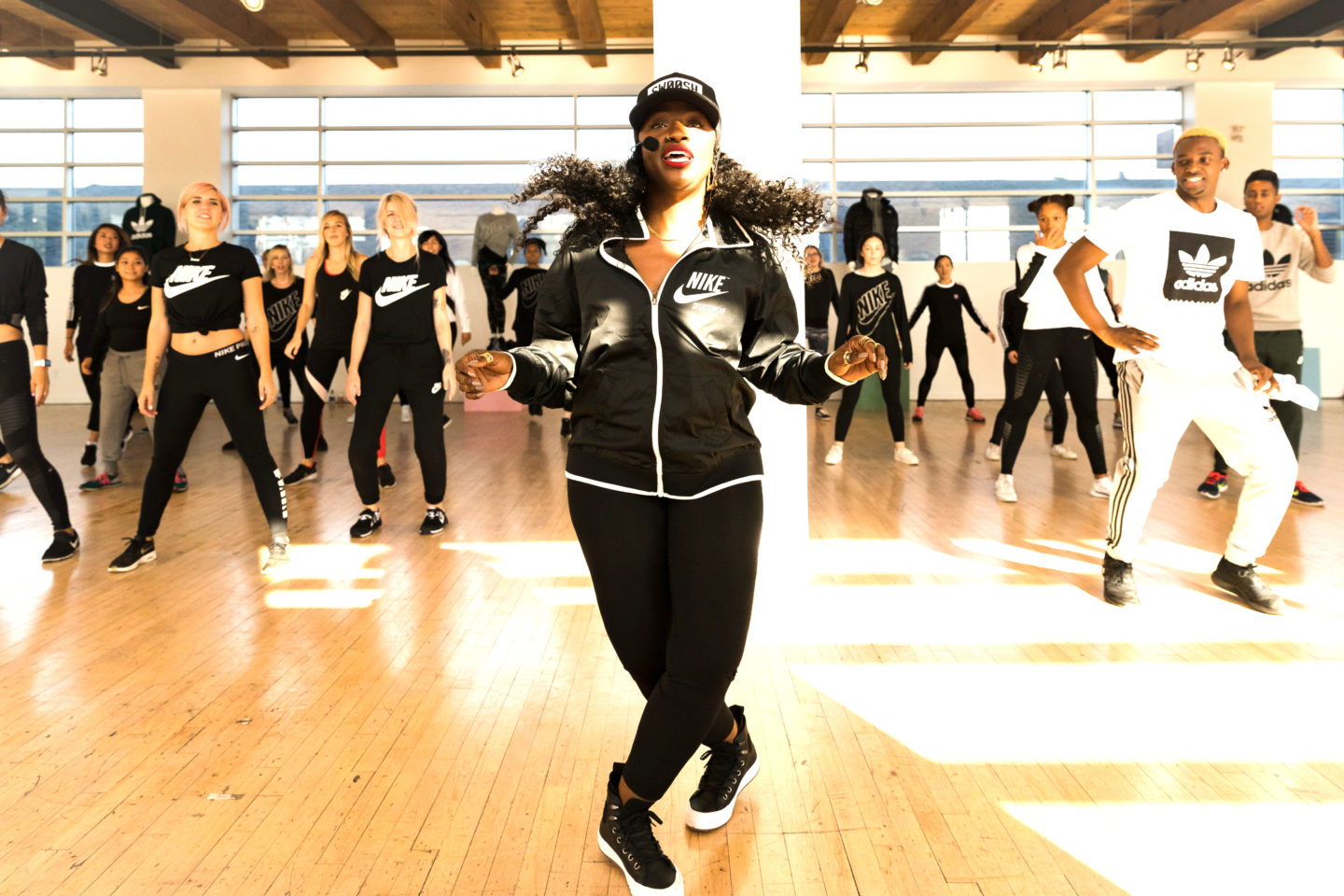 Choreographer Tanisha Scott takes the floor at Sport Chek's latest event promoting their Lifexstyle Collection!