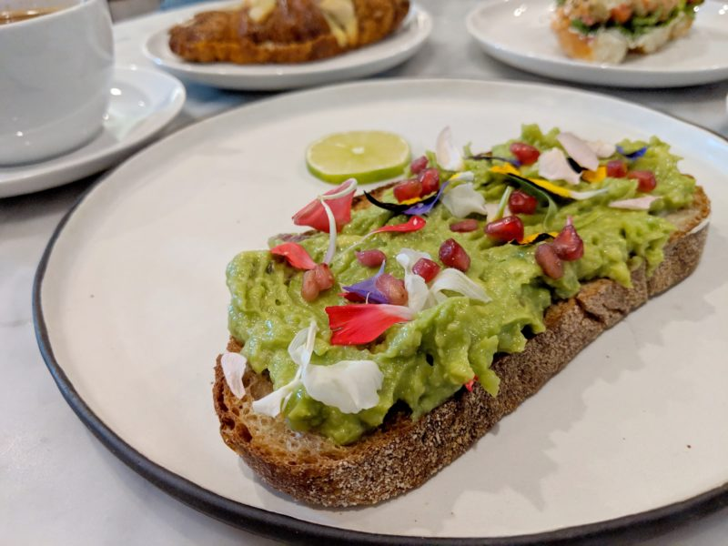 The Annex Hotel Avocado Toast